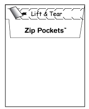 All envelopes feature our innovative zip opening