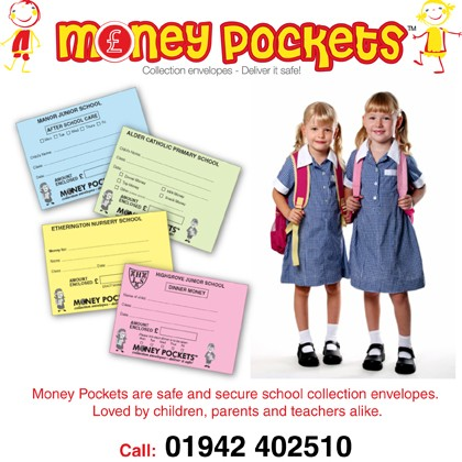 school collection envelopes - money pockets