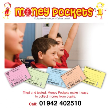 Money Pockets school collection envelopes