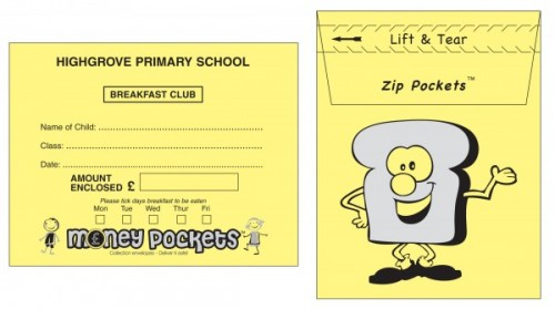 Money Pockets collection envelope - breakfast club